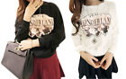 New Girl Women's T-shirt Sweater Casual Flock Animals Printing Long Sleeve Cute