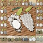 Pick  oval shaped cabochon settings in 25x18mm pendant to jewerly Diy making
