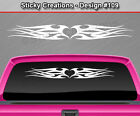 Design #109 Tribal Flame Heart Windshield Decal Window Sticker Vinyl Graphic Car