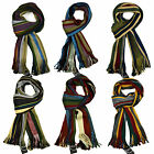 Itzu Co. Luxurious Soft Touch Stripe Scarf Multi Bold Striped Scarves (Sty.007)