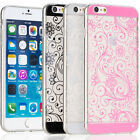 ULTRA-SLIM Transparent Flower Pattern Design TPU Case for Apple iPhone 6 4.7""