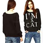 Chic Womens Korean Casual Loose Sweatshirt Pullover Sweater Shirt Top Outerawear