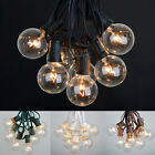 100 ft Outdoor Globe Patio String Lights 100 Sockets 125 Clear Edison Bulbs