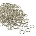 200 Pcs SILVER PLATED Metal Double Loop SPLIT RINGS! 5,6,7,8,9,10mm