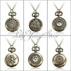 Retro Vintage Bronze Steampunk Quartz Necklace Pendant Chain Pocket Watch