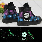 EXO High Sneaker Casual Luminous Shoes Shoe Skateboard Starry