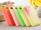 Korea Color Cute Strawberry Bumper Shockproof  PC+TPU Case for iphone 5 5s /4 4s