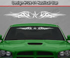 Design #126-01 NAUTICAL STAR Tribal Accent Windshield Decal Window Sticker Car