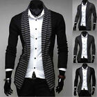 New Vogue Mens Spring Autumn Slim Casual Striped Long-sleeve knit cardigan AU JR