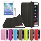 For iPad Air 2 Slim Genuine Leather Smart Case Cover Stand + Film Pen Set Chic