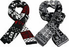 ITZU Co.Deluxe Soft Feel Wool Blend Nordic Aztec Abstract Ribbed Knit Scarf