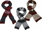 ITZU Apparel Co. Soft Touch Wool Blend Chunky Cable Knit Argyle Scarf Wrap