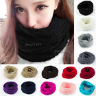 Hot Ladies Women's Wool Knit Winter Warm Knitted Neck Circle Cowl Snood Scarf