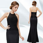 LBD Women`s Black Formal Prom Dresses Lace Evening Ball Gowns Maxi Long 08242