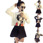 New Girl Women's T-shirt High Waist Skirt Set Suit Princess Cotton Tops Sweet
