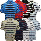 Mens Striped Polos Standard Larger Loose Fit Big King Size Tops New Pack of 2