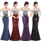 Women's Evening Ball Gowns Formal Party Dresses Sequins Long Party Skirt 08372
