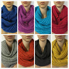 Winter Sale New Women Fashion Knit Shimmer Circle Loop Infinity Scarf 12 Colors