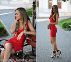French Connection Red Spotlight Ribbon Knits Bandage Bodycon Xmas Party Dress 8