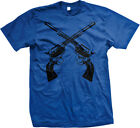 Crossed Pistols Pro-gun 2nd Second Amendment Classic Handguns Mens T-shirt