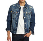 True Religion Brand Jeans Men's Jimmy Super T Denim Jacket-Dust Bowl