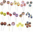CHARACTER (Disney) 6 DRINKING STRAWS (Birthday Party Supplies & Decorations)