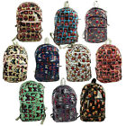 RARE Unisex BUTTERFLY OWL Oilcloth Rucksack Backpack School Travel Bag