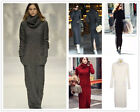 Womens Vintage Maxi Sweater Turtleneck Long Slim Pullover Knit Casual Dress