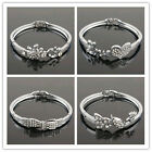 14k White Gold Filled Austrian Crystal Bracelet & Bangle Jewelry In 15 Styles