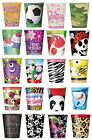8 x PAPER CUPS (9oz) Range of DESIGNS THEMES (Birthday Party Supplies Tableware)