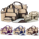 5pcs Baby Nappy Changing Bag Set Mummy Shoulder Handbag Diaper Food Bags Colours