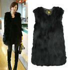 new perfect Real Farm Fox Fur Vest Gilet Long Fox Fur Jacket Grace Women HOT POP