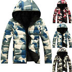 New Men's Hoodie Coat Camouflage Thickened Warm Hooded Outwear Good Sweet Colors