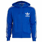 adidas Originals Jacke Sweatjacke Kapuzenjacke ADI Hooded FLock bluebird blau
