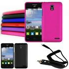 Phone Case For Straight Talk Alcatel One Touch Popstar Hard Cover + Car Charger