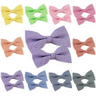 *BRAND NEW* LOTS OF DAD AND SON SET COTTON CHECKED TUXEDO BOW TIE-VARIOUS COLORS