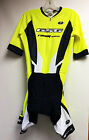ELITE CYCLING Short Sleeve Skinsuit (Rekord Carbon Pad) in Hi Vis Yellow by GSG
