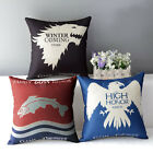 2015 Unique Game of Thrones House Home Decor Decorative Flat Pillow Case Cushion
