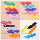 20/100pcs Hot Selling Mixed Colorful Charms Bowknot Plastic Hair Clips Clamps C