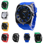 Fashion Colorful Rubber Band Luxury Casual Sport Quartz Wrist Watch Women Men