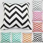 Fashion Waved Stripes Cotton Linen Cushion Throw Pillow Case Covers Home UK