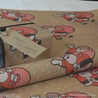 Christmas *Novelty Santa* Patterned Kraft Brown Wrapping Paper 5 or 10 metres