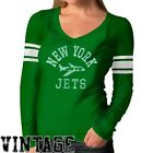 '47 Brand New York Jets Ladies Touchdown Premium Long Sleeve T-Shirt - Green