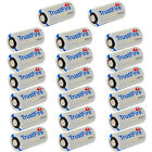 2-100x Lithium CR123A 3V 1400mah Camcra Lithium Batteries Battery Lots TrustFire