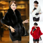 Mad Selling 2015 Ladies Leather Grass Fake Fox Fur Shawl Cloak Cape Unique Coat
