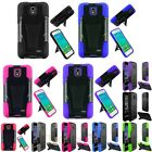 For Alcatel One Touch Pop Star Hard Silicone Hybrid Case Cover w/stand