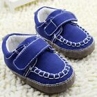 Infant baby boy blue crib shoes casual shoes size 0-6 6-12 12-18 months