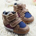 Infant baby boy brown crib shoes casual shoes size 0-6 6-12 12-18 months