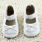 Infant baby girl white crib shoes casual shoes size  0-6 6-12 12-18 months