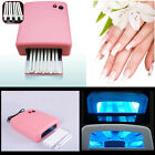 Pink/White 36W UV Nail Polish Dryer Gel Acrylic Curing 4x9W Tube Lamp Light US S